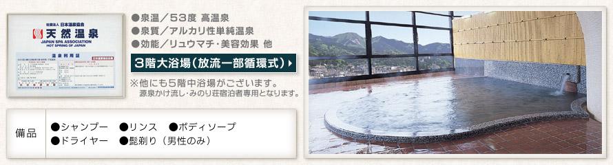 3階大浴場 放流一部循環式