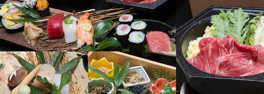 飛騨牛すき焼きと選べる寿司会席